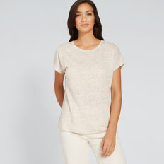 Relaxed Linen Tee  OYSTER MARLE  hi-res