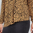 Asymmetric Ocelot Sweater  GOLDEN TAN OCELOT  hi-res