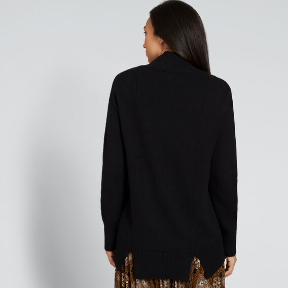 Easy High Neck Sweater  BLACK  hi-res