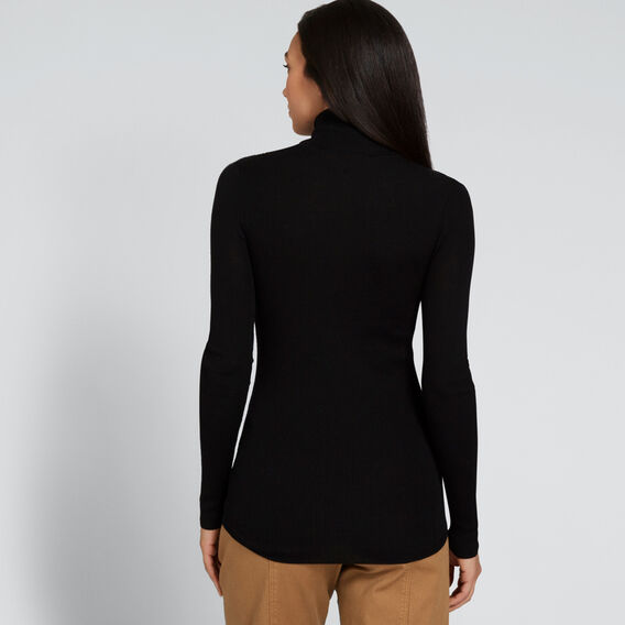 Fitted Rib Roll Neck  BLACK  hi-res
