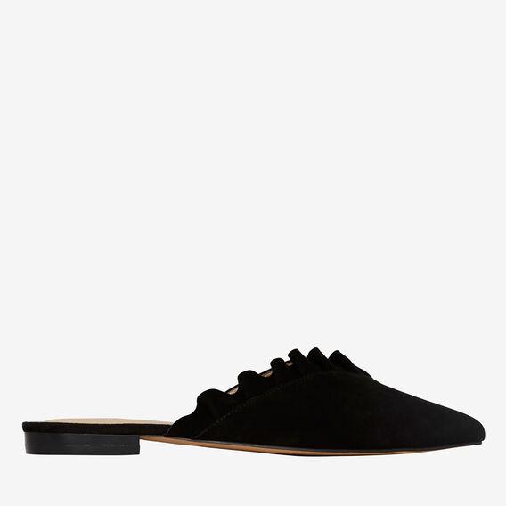 Daisy Frill Flat  BLACK  hi-res