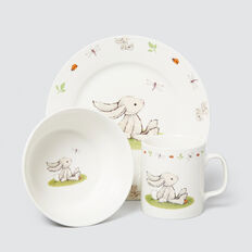 Bashful Bunny Bowl Cup Plate Set  MULTI  hi-res