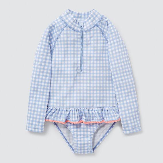 Gingham Rash Suit  BLUEBELL  hi-res