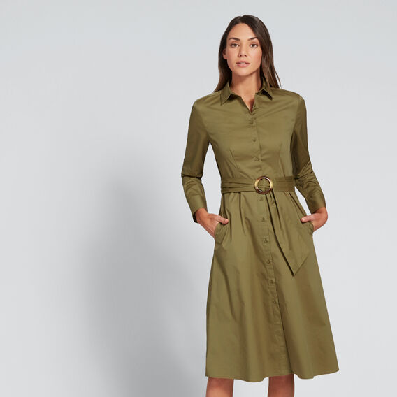 Shirt Dress  OLIVINE  hi-res