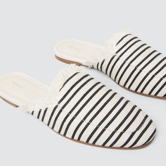 Luella Stripe Mule  CREAM/BLACK  hi-res