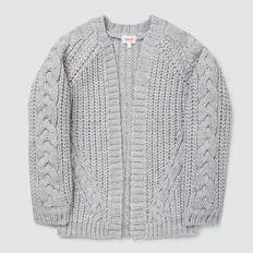 Cable Cardigan  CLOUD  hi-res