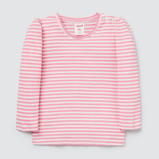 Puff Sleeve Tee  PINK BLUSH/CANVAS  hi-res