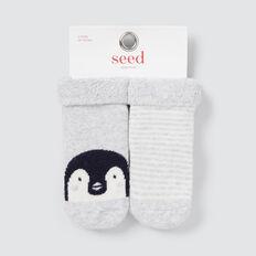 Terry Penguin Socks  GREY  hi-res