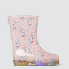Unicorn Gumboot  PINK  hi-res