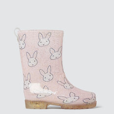 Bunny Light Up Gumboot  PINK  hi-res