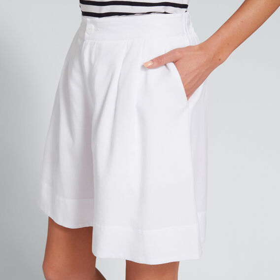 Wide Leg Short  WHISPER WHITE  hi-res