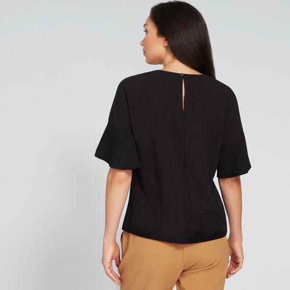 Floaty Sleeve Top  BLACK  hi-res