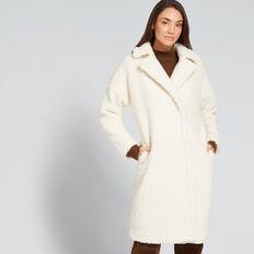Longline Teddy Coat  FRENCH VANILLA  hi-res
