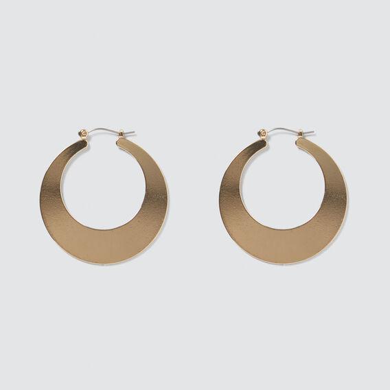 Flat Hoop Earrings  GOLD  hi-res