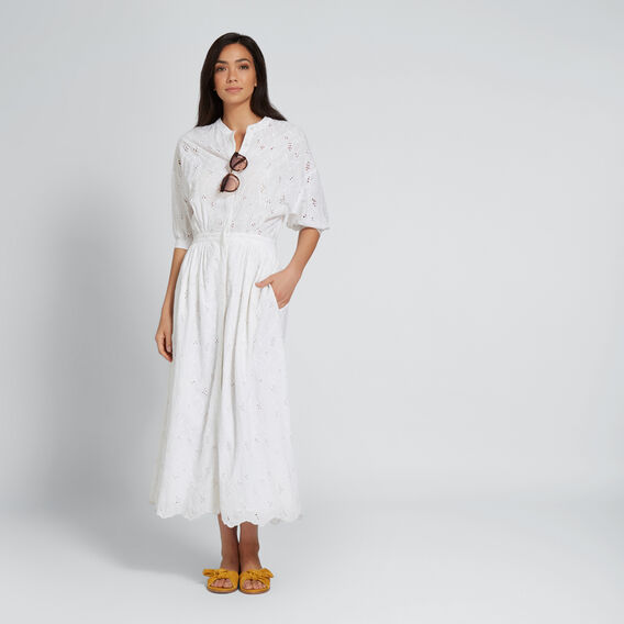 Broderie Maxi Dress  WHISPER WHITE  hi-res
