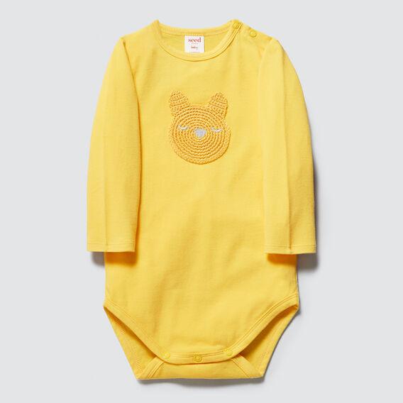Crochet Bunny Bodysuit  PALE MUSTARD  hi-res
