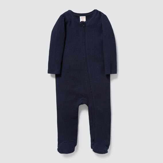 Rib Zipsuit- Available in 00000  NAVY  hi-res