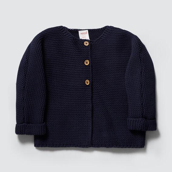 Chunky Knit Cardigan  NAVY  hi-res