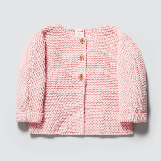 Chunky Knit Cardigan  PRETTY PINK  hi-res