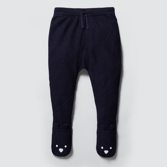 Footed Knit Legging  NAVY  hi-res