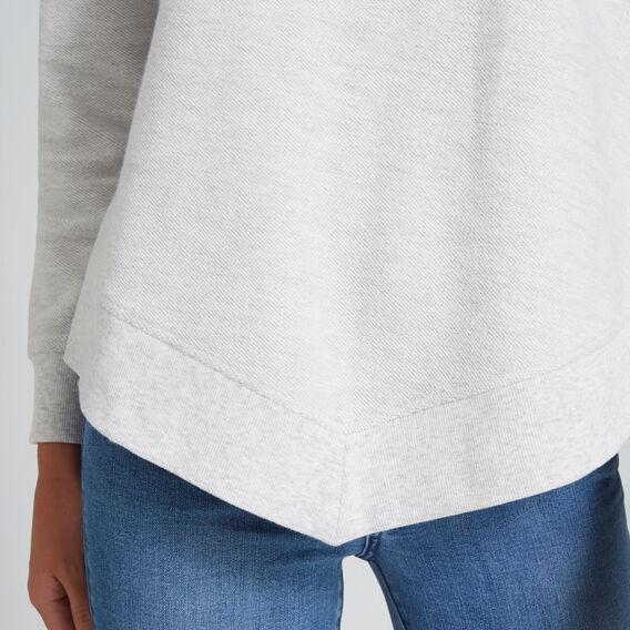 Hi Lo Terry Sweater  LIGHT GREY MARLE  hi-res
