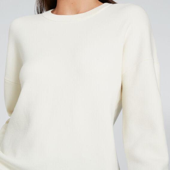 Curve Hem Easy Sweater  CLOUD CREAM  hi-res