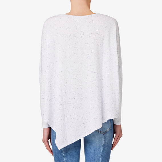 Asymmetrical Sweater  BRIGHT WHITE MARLE  hi-res