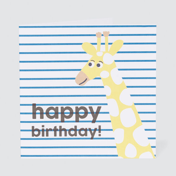 Large Happy Birthday Giraffe Card  MULTI  hi-res