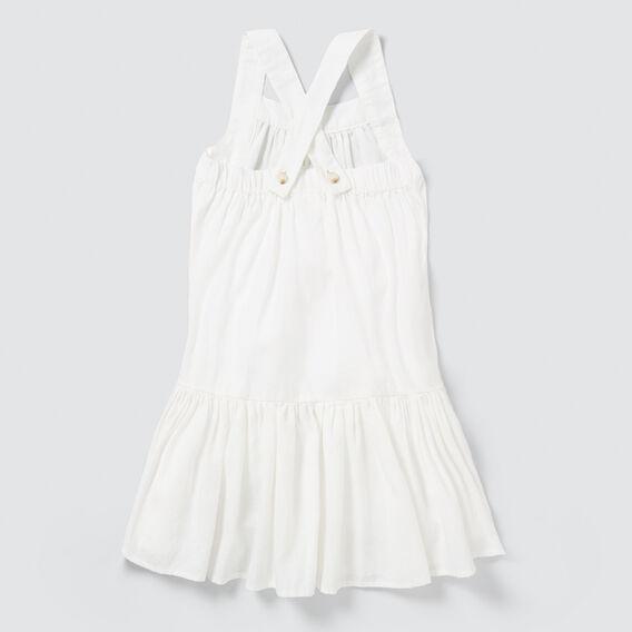 Linen Dress  WHITE  hi-res