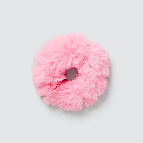 Faux-Fur Scrunchie  MUSK PINK  hi-res