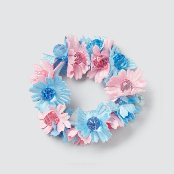Flower Scrunchie  PINK/BLUE  hi-res