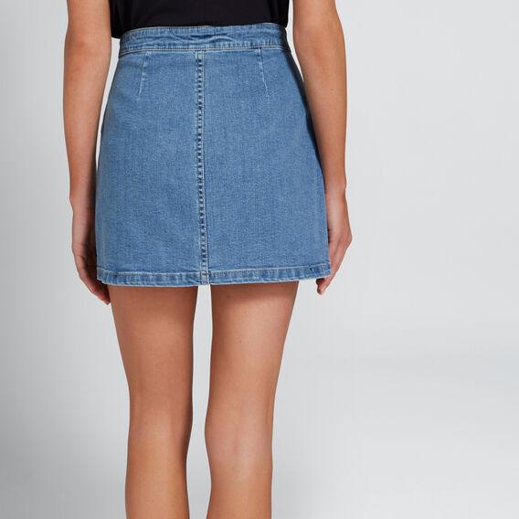 Basic Denim Skirt  CLASSIC DENIM  hi-res