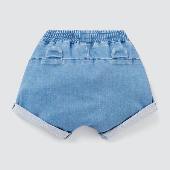 Novelty Harem Denim Short  FADED BLUE WASH  hi-res