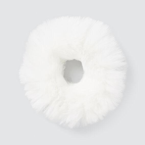 Fur Scrunchie  WHITE  hi-res