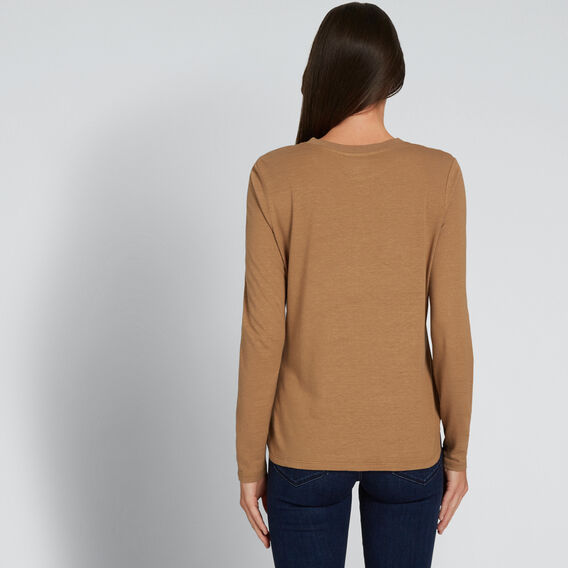 Linen Blend Top  GINGERBREAD  hi-res