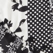 Spliced Botanical Scarf  BLACK/WHITE  hi-res