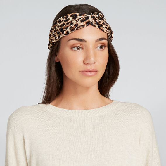 Ocelot Pleated Turban  OCELOT  hi-res