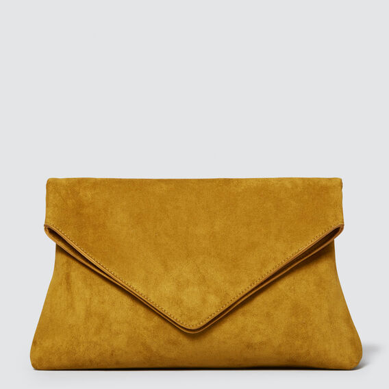 Margot Fold Over Clutch  GOLDEN MUSTARD  hi-res