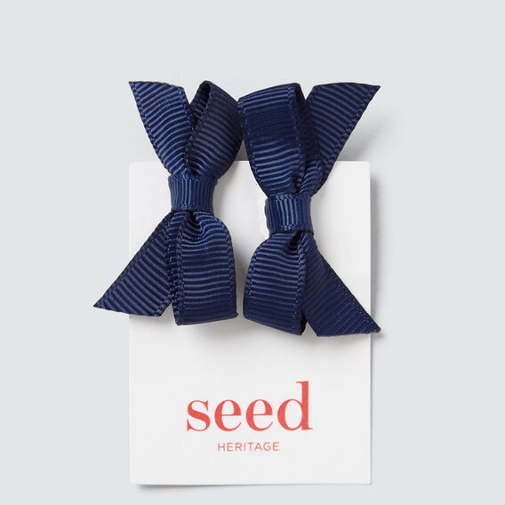 Mini Grosgrain Duck Clip  NAVY  hi-res