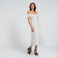 Off-Shoulder Spot Dress  SPOT  hi-res
