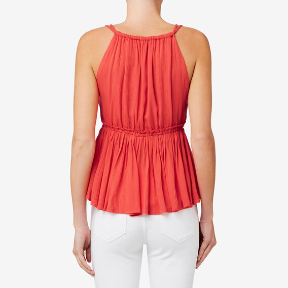 Frill Tie Crop Top  CRIMSON  hi-res