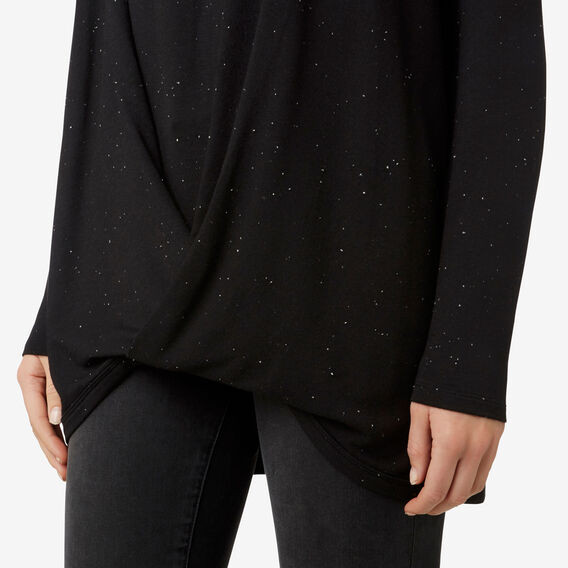 Cosy Drape Top  BLACK FLECK  hi-res