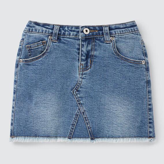 Denim Skirt  WASHED BLUE  hi-res