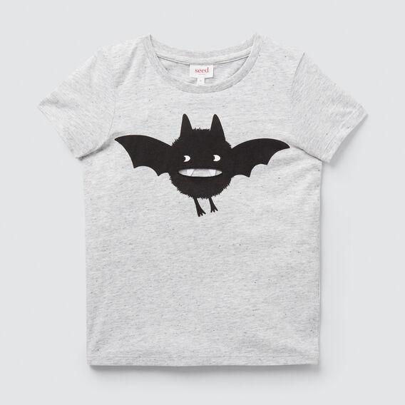 Bat Print Tee  CLOUDY MARLE  hi-res