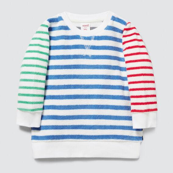 Stripe Towelling Sweater  MULTI  hi-res
