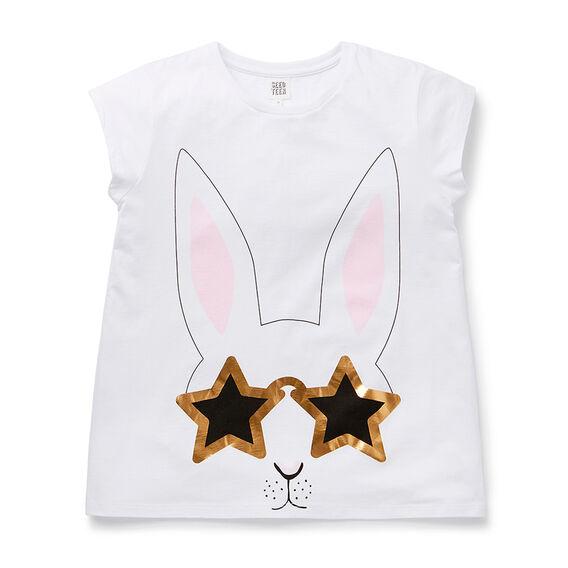 Bunny Tee  WHITE  hi-res