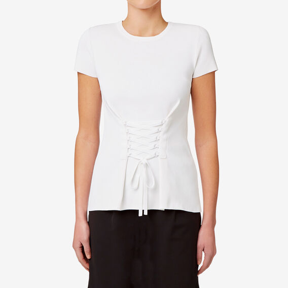Tie Front Knit  BRIGHT WHITE  hi-res
