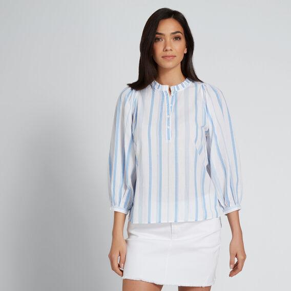 Stripe Cotton Shirt  COOL BLUE STRIPE  hi-res