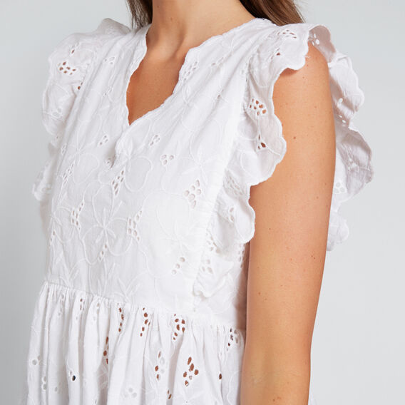 Broderie Top  WHISPER WHITE  hi-res