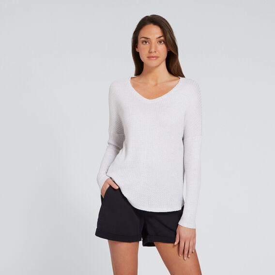 V-Neck Slouch Top  WHITE MARLE  hi-res